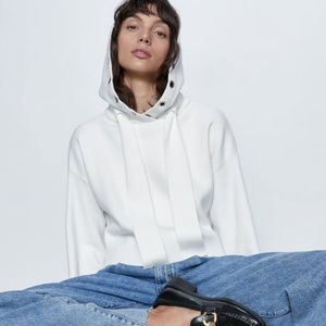 Zara oversized hoodie with metal detailing Small
